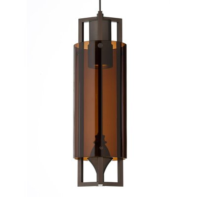 Projekt Monorail Pendant Finish: Satin Nickel, Shade Color: Brown