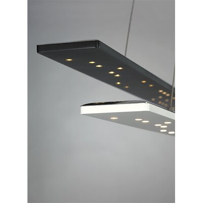 Parallax LED Kitchen Island Pendant Finish: Black