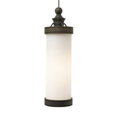 Bridgeport 1-Light Mini Pendant Finish: Antique Bronze, Bulb Type: Bulb Included (LED)