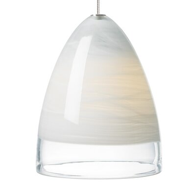 Nebbia 1-Light Mini Pendant Base Finish: Satin Nickel, Shade Color: White, Mounting Type: Two-Circuit�Monorail