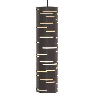 Revel 1-Light Mini Pendant Finish: Antique Bronze, Shade Color: Satin Nickel, Bulb Type: Halogen