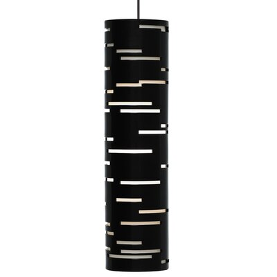 Revel 1-Light Mini Pendant Finish: Antique Bronze, Shade Color: Gloss Black, Bulb Type: Halogen