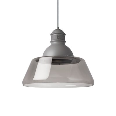 Stratton 1-Light Inverted Pendant Finish: Gray, Shade Color: Smoke, Bulb Type: Incandescent