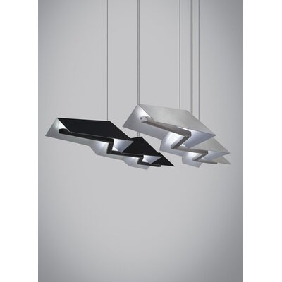 Kitchen Island Pendant Finish: Satin Nickel, Bulb Type: LED