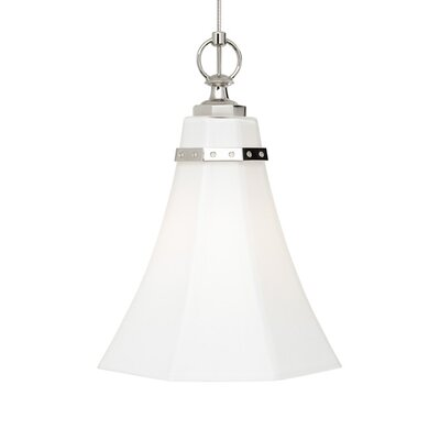 Delaware Mini Pendant Base Finish: Antique Bronze, Shade Color: White