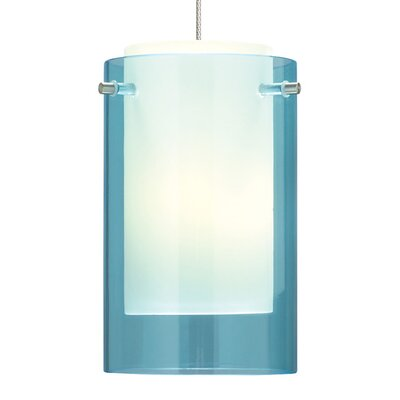 Echo 1-Light LED Mini Pendant Base Finish: Satin Nickel, Shade Color: Steel Blue, Bulb Type: 90 CRI 3000K LED