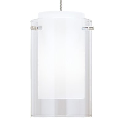 Echo Drum Pendant Base Finish: Satin Nickel, Shade Color: Clear