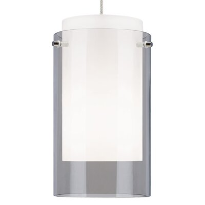 Echo Drum Pendant Base Finish: Satin Nickel, Shade Color: Smoke
