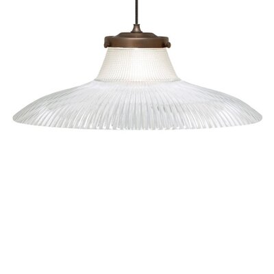Dearborn 1-Light Monopoint Inverted Pendant Finish: Satin Nickel