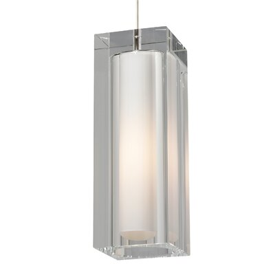 1-Light Mini Pendant Finish: White, Color: Clear, Bulb Type: 1 x 32W 120V Fluorescent