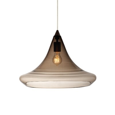 Piland 1-Light Geometric Pendant Finish: Black