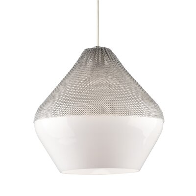 Pilger 1-Light Mini Pendant Finish: Satin Nickel