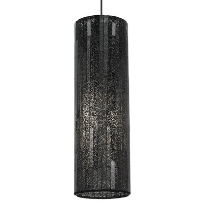 Peyton Grande Drum Pendant Base Finish: Satin Nickel, Shade Color: Brown