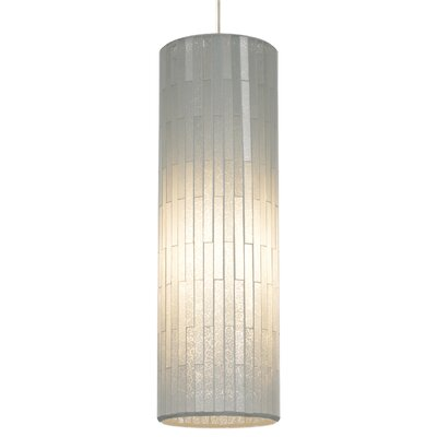 Peyton Grande 1-Light Mini Pendant Base Finish: Satin Nickel, Shade Color: White