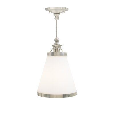 Benton 1-Light Mini Pendant Finish: Polished Nickel, Bulb Type: Incandescent