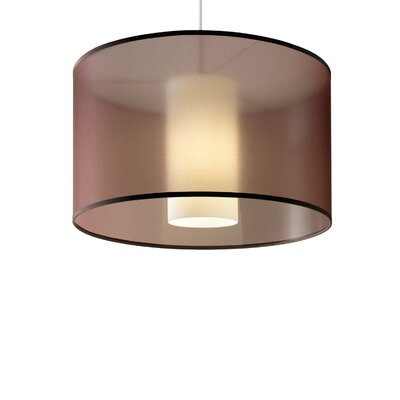 Dillon 1-Light 2-Circuit Drum Track Pendant Finish: Satin Nickel, Shade Color: Brown, Bulb Type: Compact Fluorescent