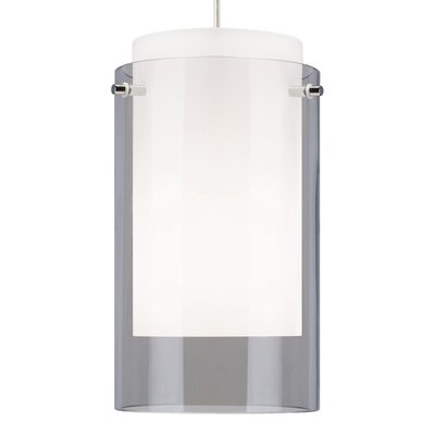 Echo 1-Light 1-Circuit CFL Mini Track Pendant Finish: White, Shade Color: Smoke