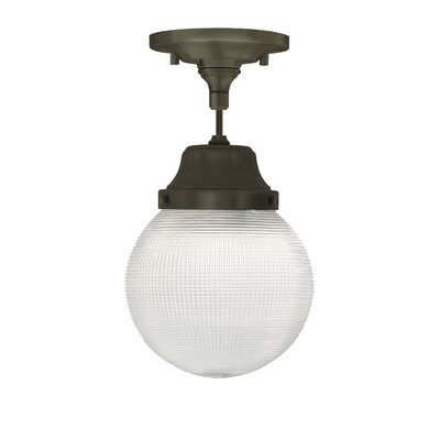 Wrightwood 1-Light Schoolhouse Pendant Finish: Polished Nickel, Bulb Type: Incandescent