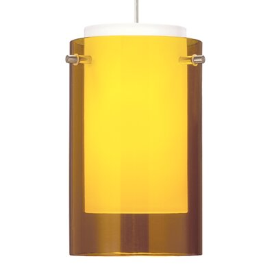 Echo 1-Light 1-Circuit Incandescent Mini Track Pendant Finish: Satin Nickel, Shade Color: Amber, Size: 9 H x 5 W x 5 D