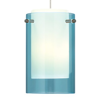 Echo 1-Light 1-Circuit CFL Mini Track Pendant Finish: Satin Nickel, Shade Color: Aquamarine