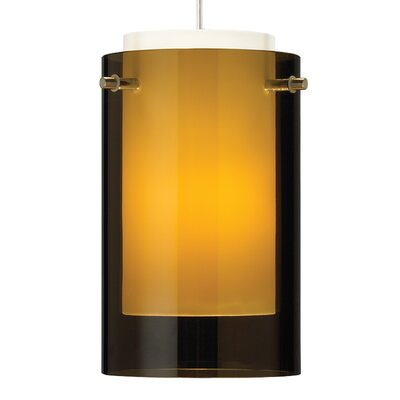Echo 1-Light 1-Circuit Incandescent Mini Track Pendant Finish: Satin Nickel, Shade Color: Havana Brown, Size: 7 H x 4 W x 4 D