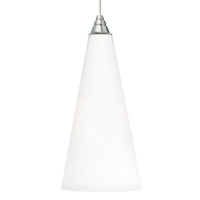 Emerge 1-Light 1-Circuit Mini Track Pendant Finish: Satin Nickel, Shade Color: Frost White, Bulb Type: Compact Fluorescent