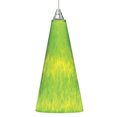 Emerge 1-Light Mini Pendant Finish: Satin Nickel, Shade Color: Lime Green