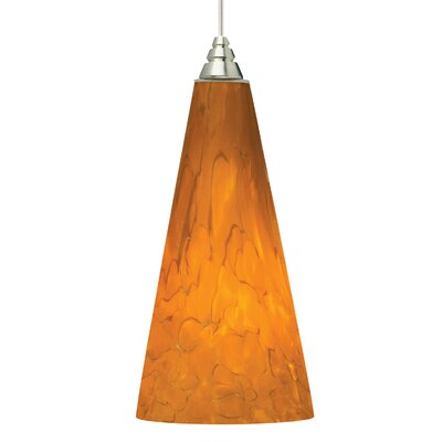 Emerge 1-Light Mini Pendant Finish: White, Shade Color: Tahoe Pine Amber