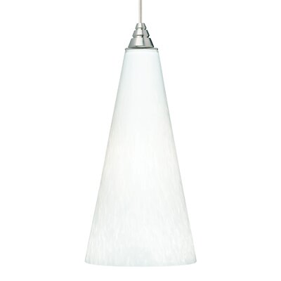 Emerge 1-Light 1-Circuit Mini Track Pendant Finish: Satin Nickel, Bulb Type: Incandescent, Shade Color: White Frit
