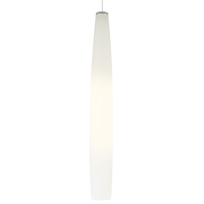 Fino Mini 2-Circuit Track Pendant Finish: Satin Nickel, Shade Color: White