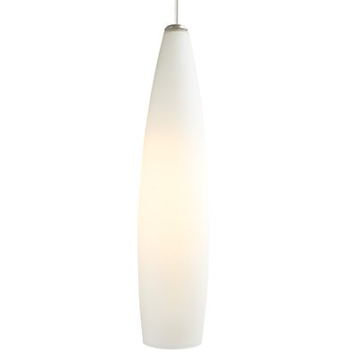 Fino 1-Light Pendant Finish: White, Shade Color: White