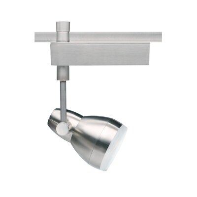 Om 1-Light 1-Circuit Ceramic Metal Halide T4 70W Track Head Finish: Satin Nickel, Decorative Lens Ring: Frosted Ring, Drop Height: 11.1