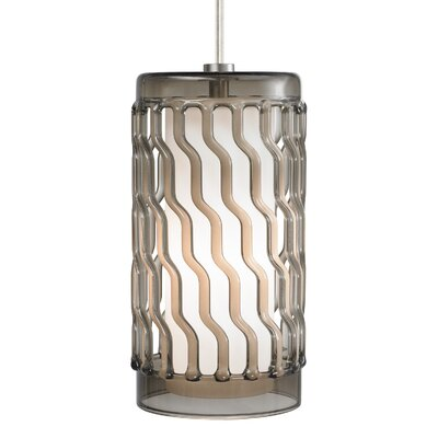 Liza Grande Drum Pendant Base Finish: Satin Nickel