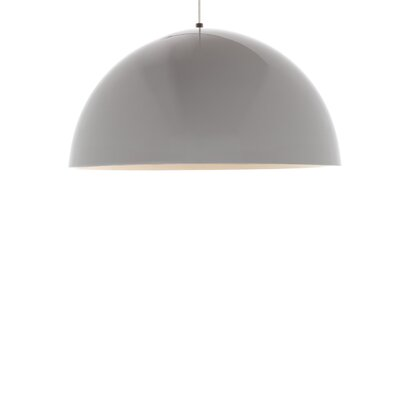 Powell Street 1-Light Inverted Pendant Base Finish: Satin Nickel, Shade Color: White