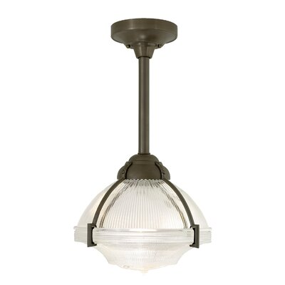 Union Schoolhouse Pendant Bulb Type: Compact Fluorescent, Finish: Satin Nickel, Size: 36 H x 12.3 W x 12.3 D