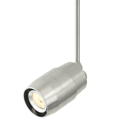 Envision 1-Light LED Powerjack Track Head Finish: Satin Nickel, Drop Height: 12, Color Temperature: 3000K