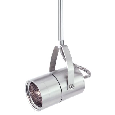 Spot 1-Light 2-Circuit Incandescent Track Head Finish: Satin Nickel, Drop Height: 11.1