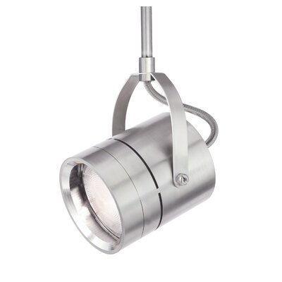 Spot 1-Light 2-Circuit Incandescent Track Head Finish: Satin Nickel, Drop Height: 6.4