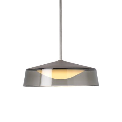Masque Grande Inverted Pendant Base Finish: White, Shade Color: Smoke/Gray