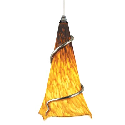 Ovation 1-Light 2-Circuit Mini Track Pendant Bulb Type: Incandescent, Trim: Amber Ball, Finish: White