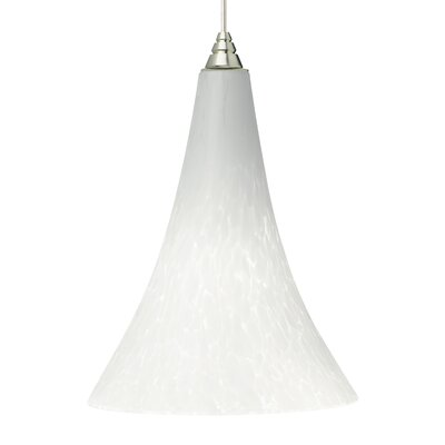 Melrose 1-Light 2KD 1-Circuit Mini Track Pendant Bulb Type: Compact Fluorescent, Finish: White, Shade Color: Ferrari Red