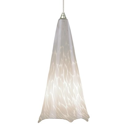 Ovation 1-Light 1-Circuit Mini Track Pendant Finish: Satin Nickel, Trim: Amber Ball, Bulb Type: Compact Fluorescent