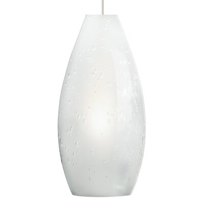 Soda 1-Light 2-Circuit Mini Track Pendant Bulb Type: Compact Fluorescent, Finish: White, Shade Color: Frost