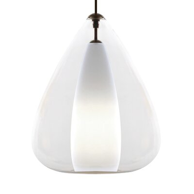 Soleil Grande 1-Light Pendant Finish: White, Shade Color: Clear