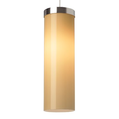 Hudson 1-Light Pendant Finish: White, Shade Color: White