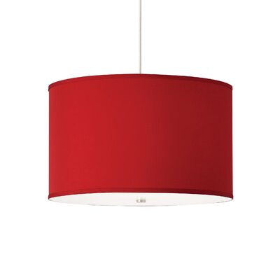 Lexington 4-Light 2-Circuit Drum Track Pendant Finish: Satin Nickel, Shade Color: Red