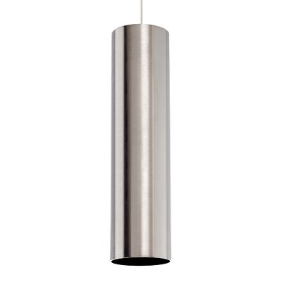 Piper Grande 1-Light Mini Pendant Base Finish: Satin Nickel, Shade Color: Satin Nickel