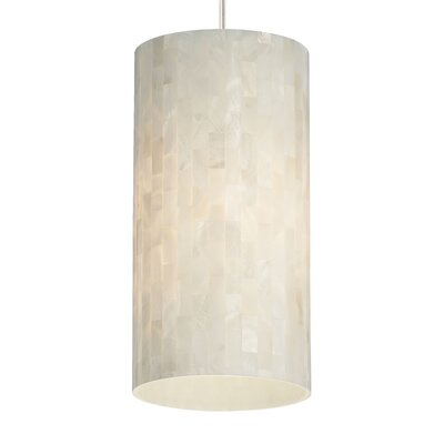 Drinnon 1-Light Mini Pendant Base Finish: Satin Nickel, Shade Color: White, Bulb Type: 90 CRI 3000K LED
