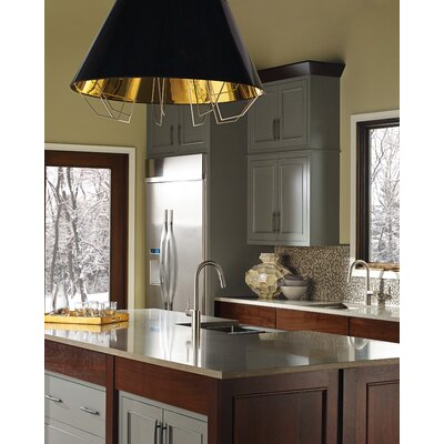 Artic Grande Inverted Pendant Shade Color: Black Gold, Bulb Type: Halogen