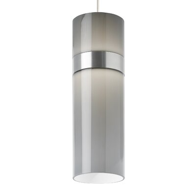 Manette Grande 1-Light Mini Pendant Base Finish: Black, Shade Color: Smoke